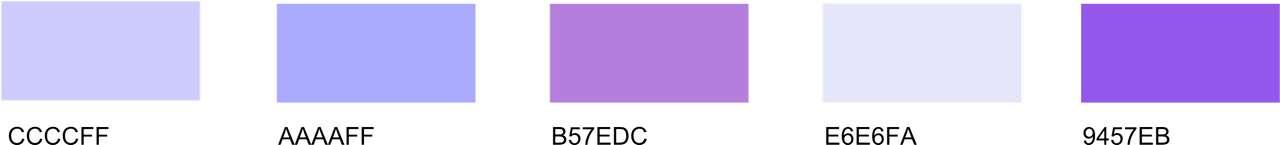 Lavender Periwinkle Color Palette