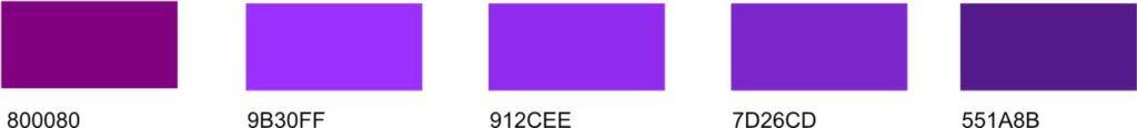 types-of-purple