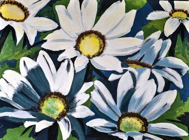 painting-of-flowers-with-acrylic-colors