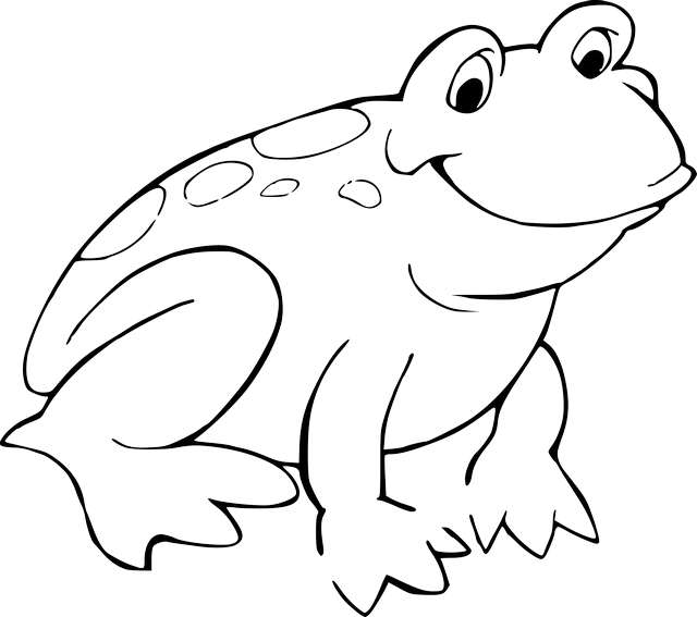 How To Draw A Frog Drawing Blog Black and white frog clipart. how to draw a frog drawing blog